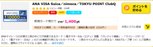ANA TOKYU POINT ClubQ PASMO マスターカードをハピタス経由で申し込んでポイントを貯める